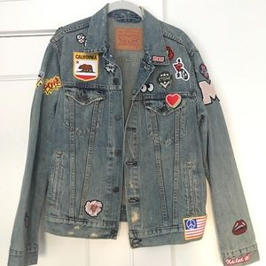 Margaret O'Leary Demin Jacket with Patches